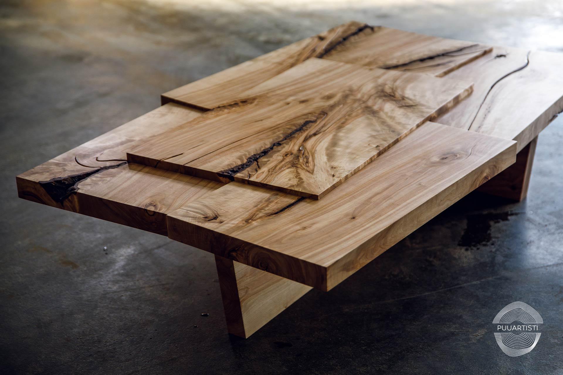 Puuartisti I Woodartist myytävät kalusteet I uniikki sohvapöytä